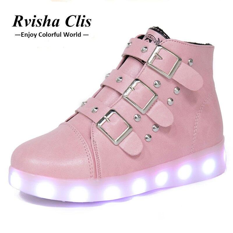 Ładowania USB Trampki Luminous led buty chłopiec buty na - Obuwie dziecięce - Zdjęcie 1