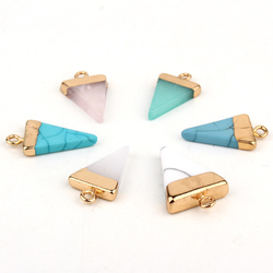 2pc Irregular Resin Stone Earring Pendant Ear Stud Drop Diy Making Jewelry Findings Triangle Fake Druzy Charms Necklace Handmade