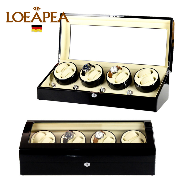 HIGH END Watch winder 8 + 9 Automatic watches chain winder trä Reel - Tillbehör klockor - Foto 4