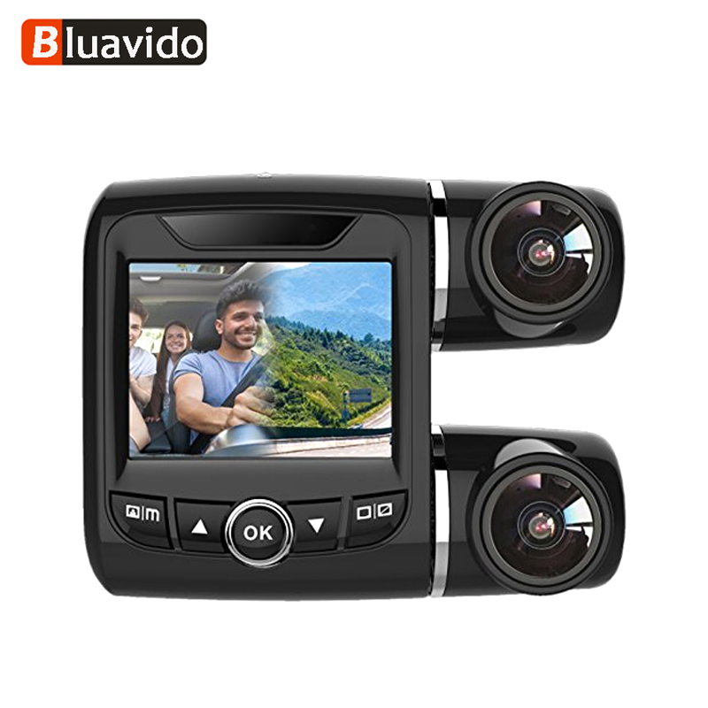 Bluavido Full HD 1080P Dual Lens Car DVR with 1080P Rear Camera Night Vision Novatek 96663 Car Video Recorder H.264 Dash Camera dual lens car dvr g30b front camera full hd 1080p external rear camera 720 480p h 264 g sensor dash cam two cameras