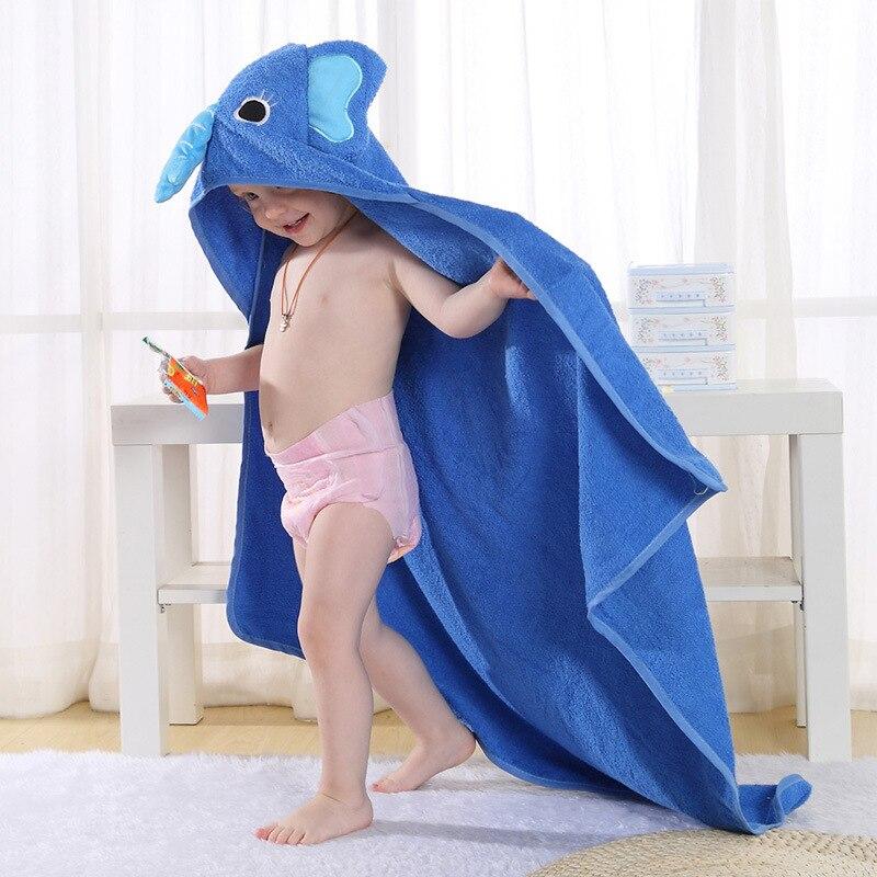 100 Cotton Cartoon Animal Baby Spa Towel Hooded Bathrobe