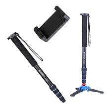 Manbily tripé base A 222 + M 1 mm para câmera, unipé monopé com 3 pernas para canon nikon dslr phone
