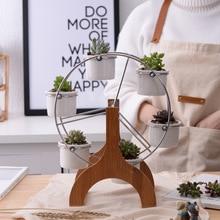 Mini Ferris Wheel Planter And Succulent Plant Pots For Garden Decor