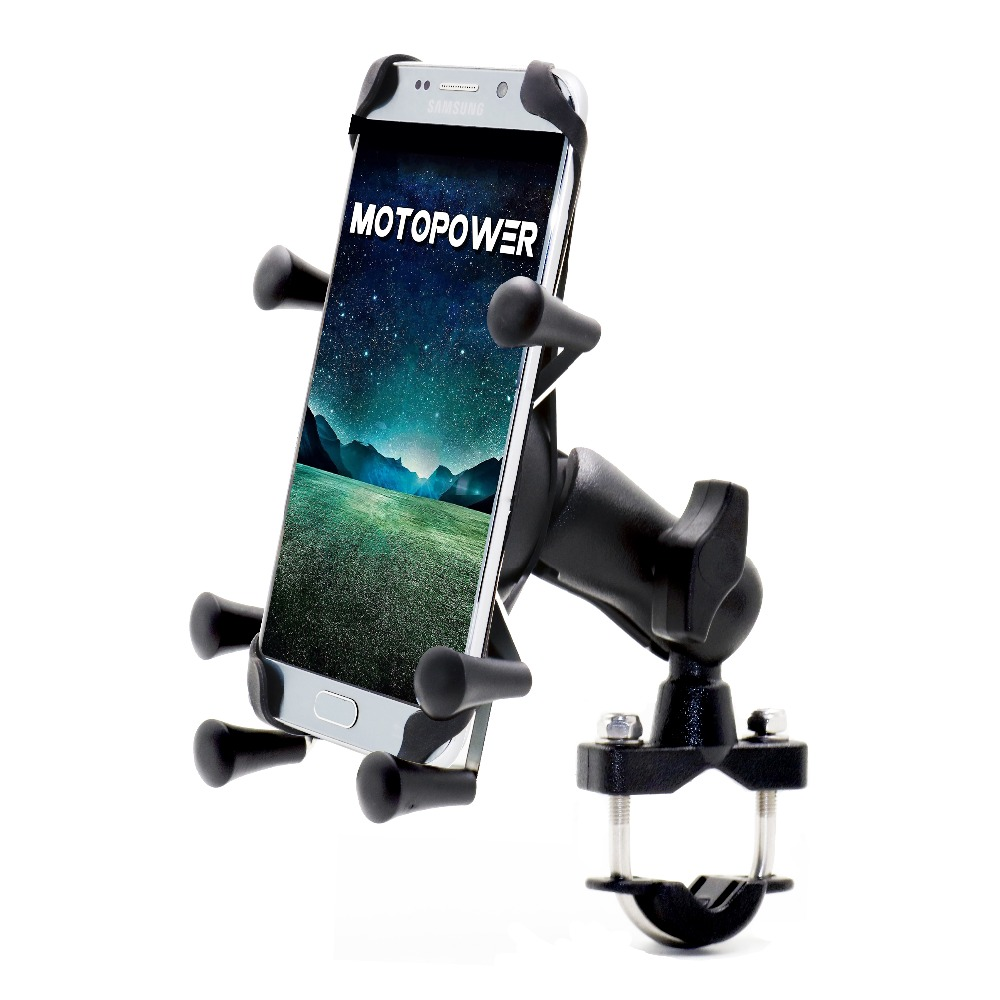 MOTOPOWER MP0619 Bike Motorcycle Cell Phone Mount Holder- For any Smartphone & GPS - Universal Mountain & Road Bike Motorcycle smartphone