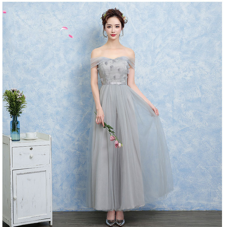 Kids Princess Champagne Grey Lavender Lovely Long Gowns Junior Size Plus Dress for Prom Party Teenage Girls Long Wedding Dresses