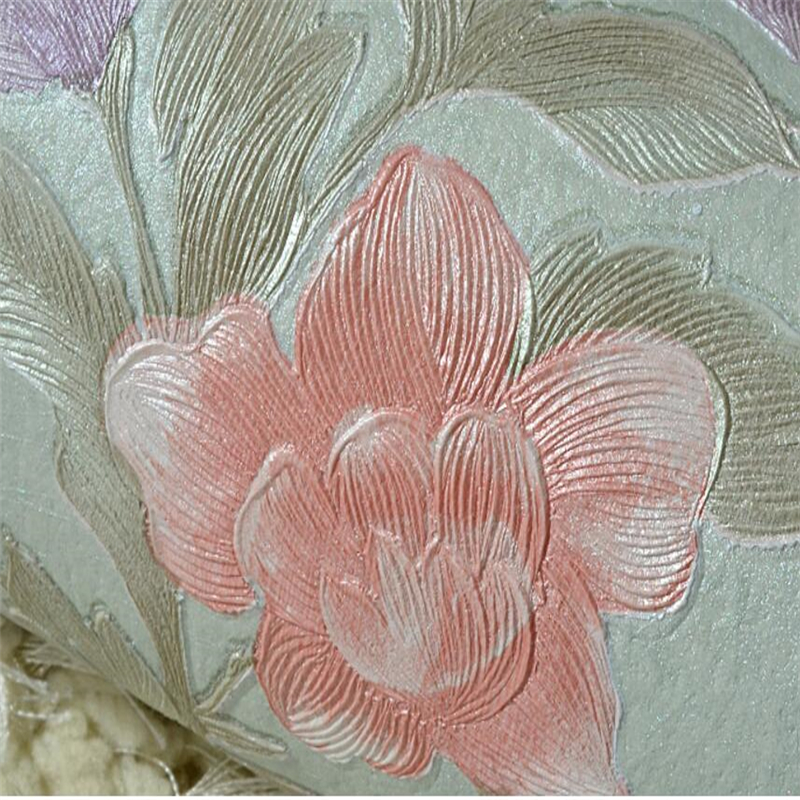 beibehang Continental embossed idyllic flowers non-woven American living room bedroom wedding room TV background wallpaper beibehang wallpaper continental damascus non woven pressure wallpaper bedroom wedding room living room tv background wall paper