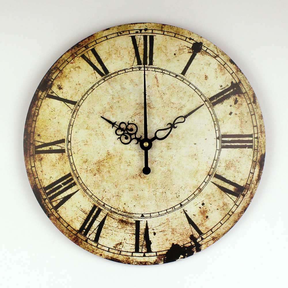 Retro Wall Decoration Watch Vintage Home Decoration Wall Clock With Roman Number Silent Decorative Wall Clock For Study Room