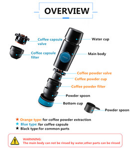 Image 5 - 2 in 1 Capsule & Ground Mini Espresso Portable Coffee Maker Hot and Cold Extraction USB Electric Coffee Powder Making Machine