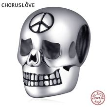 5pcs/lot Halloween Hot Sale 925 Sterling Silver Skull Charm Beads for European Diy Bracelet Jewelry цена и фото