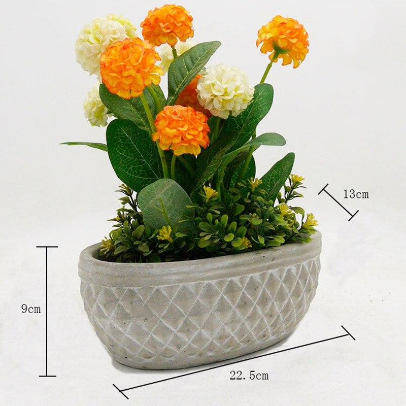 Silicone vaso di Fiori stampi vaso fioriera di cemento stampo FAI DA TE giardino planter muffa 5