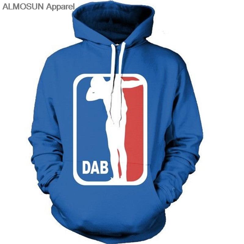 ALMOSUN Dab Logo 3D All Over Printed Hoodies Pockets Sweatshirt Hipster Harajuku Funny Street Wear Men Women US Size