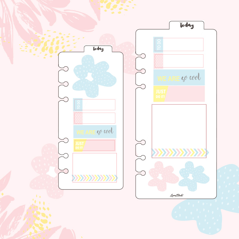 lovedoki 2017 Spring flower stickers For A5 A6 loose leaf dokibook Sticker hand made labels Todo Separator Style Sticker