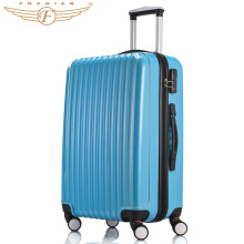 2016 NEW  ABS+PC Upright Wear-resistant Travel Luggage Suitcase Unisex Hardside Cabin Case In Elegant Blue Color 20″ 24″ Inches