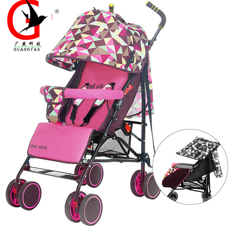 2017 Lightweight Travel Baby Stroller Trolley Portable Folding Baby Stroller Car Baby Pram HBE-HP-311 hot sell twins stroller folding travel stroller baby car for two babies trolley china push chair portable to use