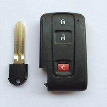 Reemplazo Sin Llave Inteligente Dominante de la Cáscara Caso Fob Clave 2 1 Botón Para Toyota Prius 2004-2009 Con Hoja sin cortar Envío Gratis