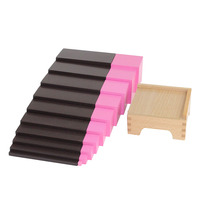 Montessori Wooden Toys Kindergarten Child Learning aids home version Brown ladder Pink tower pedestal Sensory Toys
