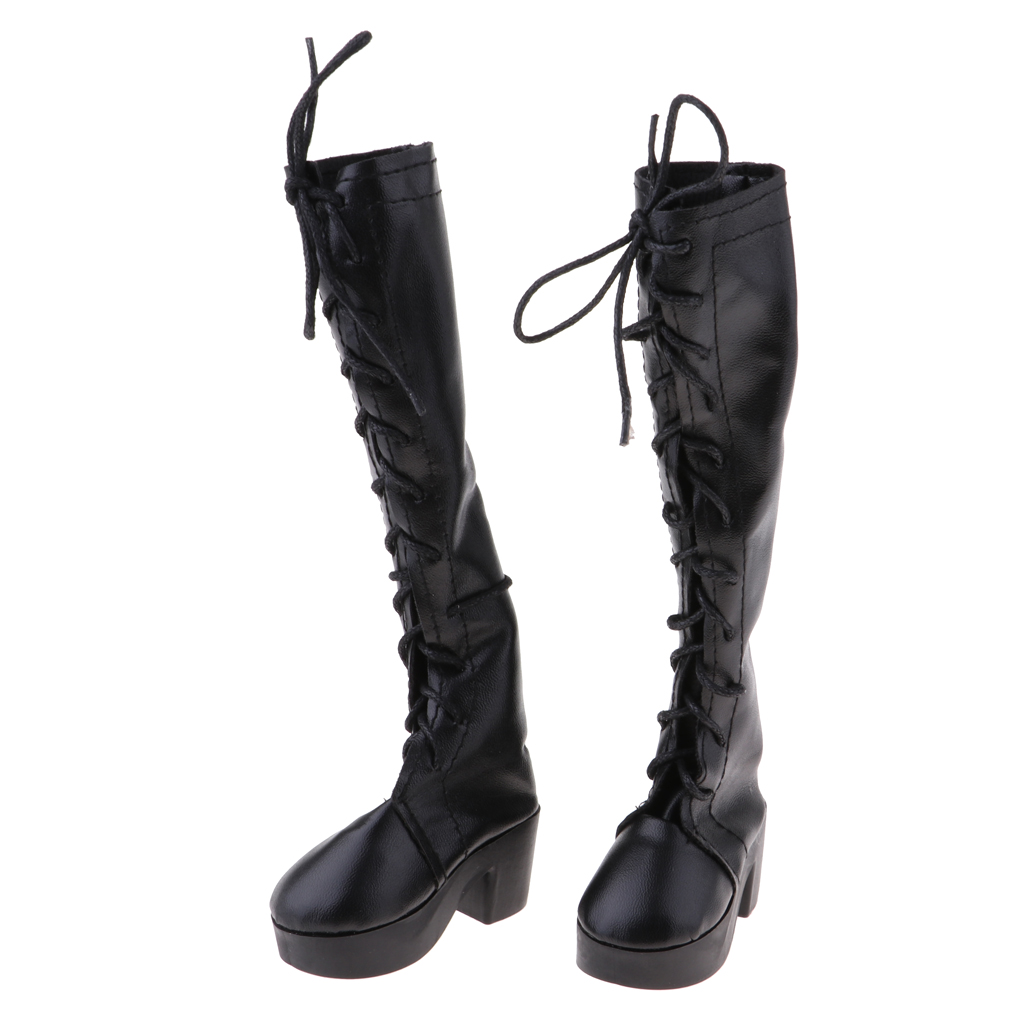 BJD Shoes Pointed-toe Military Leather Boots for 1//4 1//3 Uncle LUTS DZ AOD Black