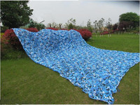 5M*9M filet Camo Netting blue camouflage netting sun shelter served as theme party decoration beach shelter balcony tent