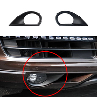 JEAZEA 2pcs High Quality Car Styling Accessories Front Bumper Fog Light Lamp Covers Grilles Trim For