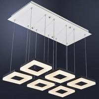 Modern LED Acrylic Ceiling Simple Bedroom Lamp Creative Personality Living Room Lights Lamp Lamp Rectangular Restaurant