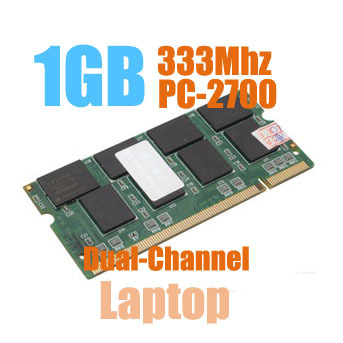 MLLSE New Sealed SODIMM DDR 333Mhz 1GB PC-2700 memory for Laptop RAM,good quality!compatible with all motherboard!