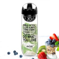 AVOIN Colorlife 1000ml Fruit Infusion Sport Bottle W Premium Infuser BPA Free Plastic Drinking My Bottle