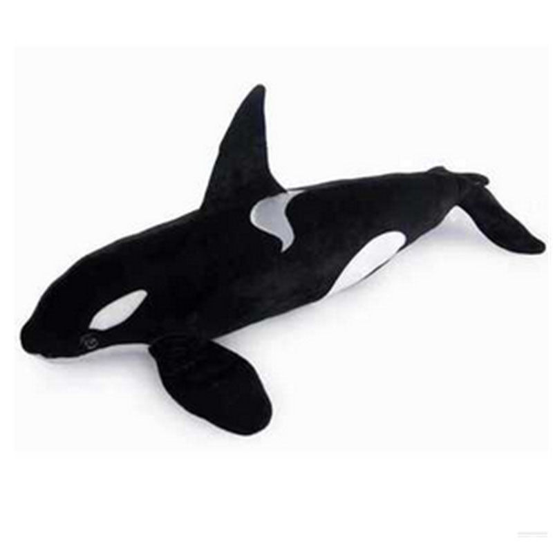 Dorimytrader Simulation Animal <font><b>Killer</b></font> <font><b>Whale</b></font> <font><b>Plush</b></font> Toy Large Soft Stuffed Sea Animals Doll Photography Props for Children Gift image