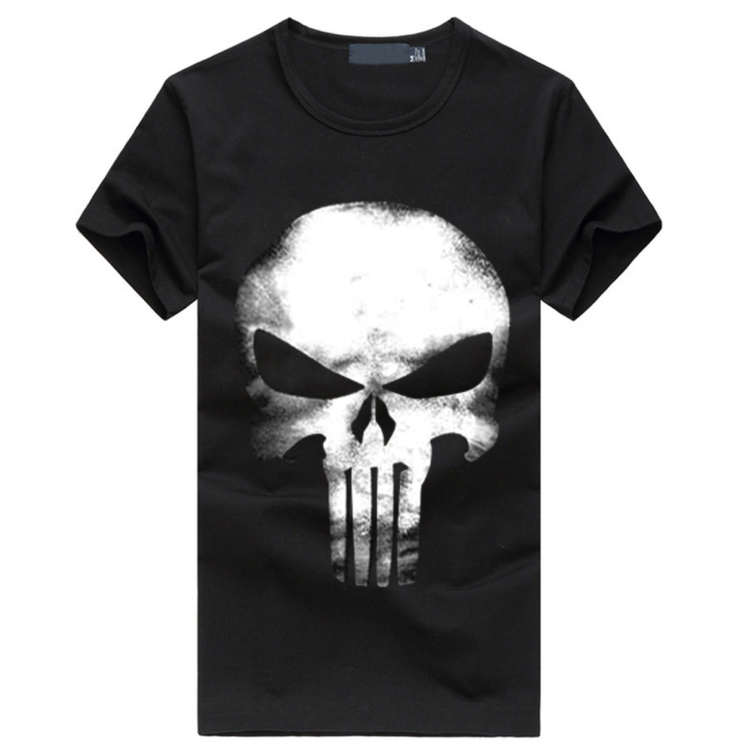 The Punisher T Shirt Men Streetwear Tops Skull 2019 Summer New Fashion Short Sleeve Casual Cotton Harajuku Homme Brand T-shirts