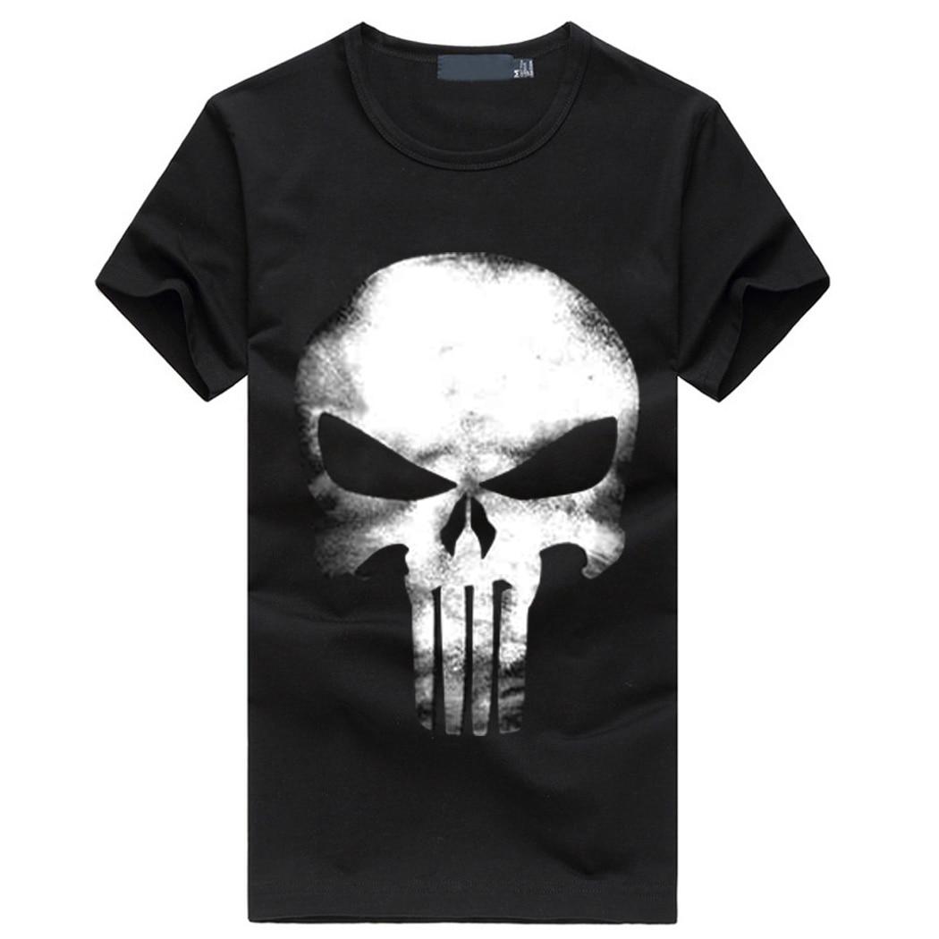 The Punisher T Shirt Men Streetwear Tops Skull 2019 Summer New Fashion Short Sleeve Casual Cotton Harajuku Homme Brand T-shirts