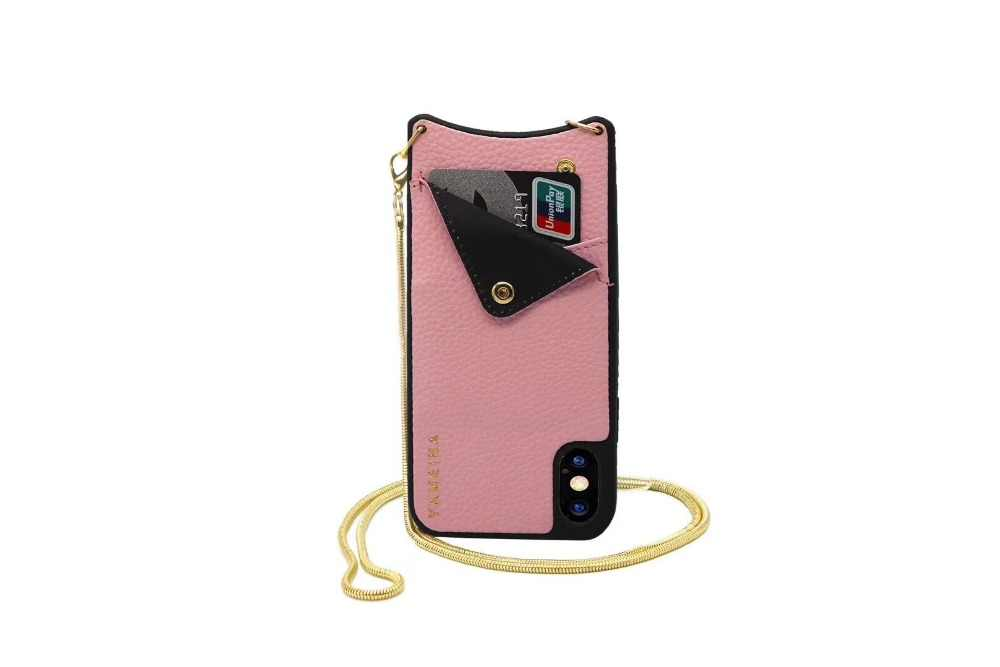 save off c6210 baa9e Fashion Wallet bag for Credit Cards Phone Case Cover Crossbody with Strap  long chain for Iphone XR XS MAX X 6S 6 8 7 plus case
