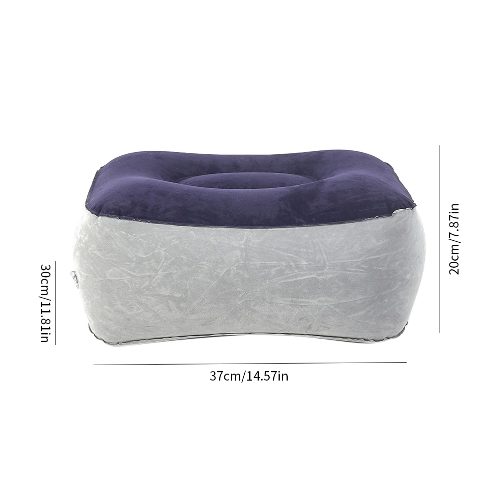 2019 Hot Useful Inflatable Portable Travel Footrest Pillow Plane Train Kids Bed Foot Rest Pad PVC For Travel Massage Car