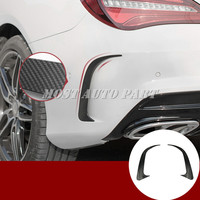 Black Rear Bumper Spoiler Air Vent Trim Cover For Benz CLA C117 W117 CLA45 AMG 2013 2018