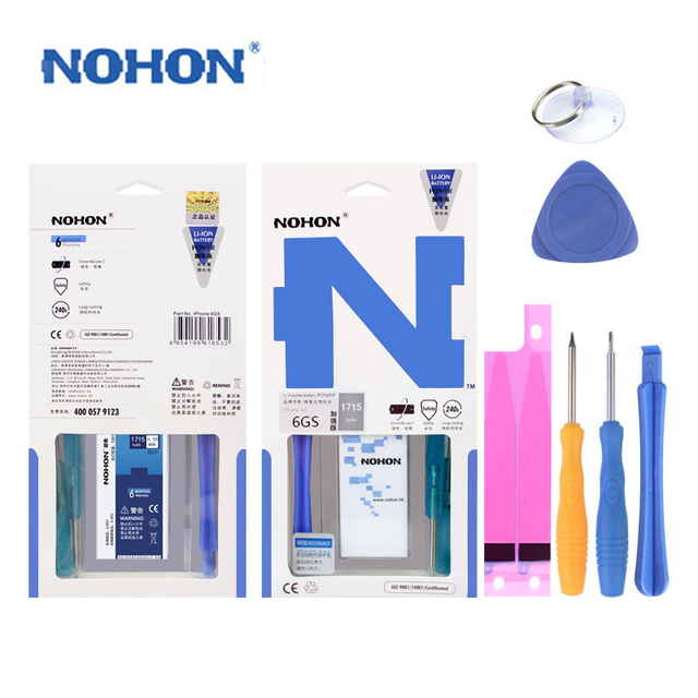 100% Original NOHON Battery For iPhone 6s 6gs High Capacity 1715mAh With Free Machine Tools