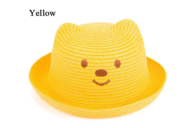 191fcb29 2016 Fashion Straw Hats Summer Baby Ear Decoration Lovely Child ...
