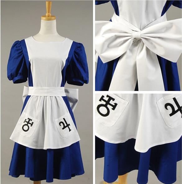 Alice Madness Returns Return Liddell Cosplay Costume Classic Maid Dress Apron Custom Made For Women