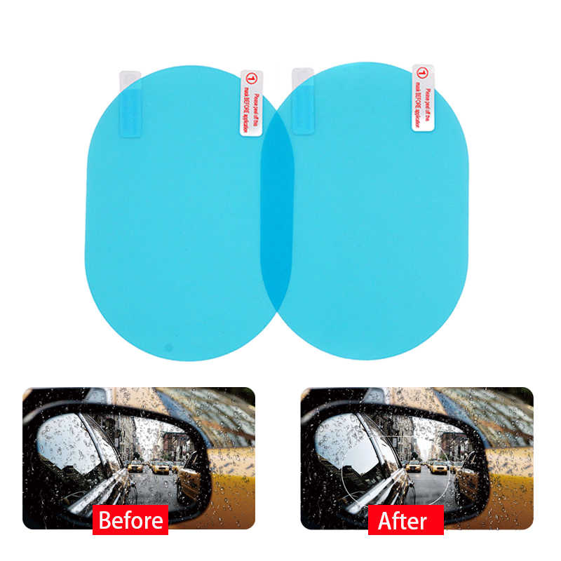 2Pcs Car Rear Mirror Protective Film Anti Fog Window Clear Rainproof Rear View Mirror Protective Soft Film Auto Accessories