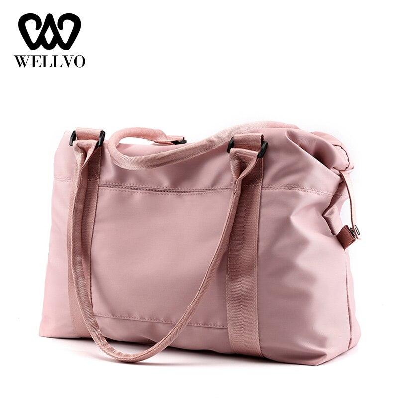 High Quality Nylon Duffle Bag Women Handbags Fashion Travel Bags Ladies Carry On Luggage Female Luxury Shoulder Bags XA785WB