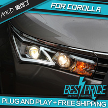 AKD Car Styling Head Lamp for COROLLA Headlights LED Headlight LIGHT GUIDE DRL Bi-Xenon Lens HID Automobile Accessories