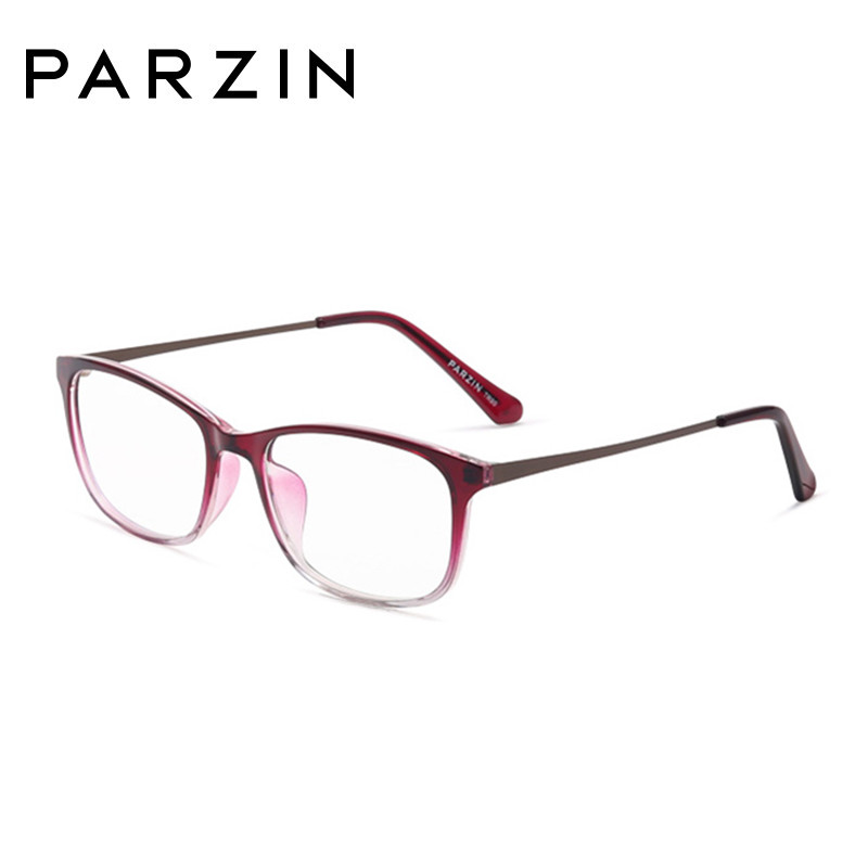 Parzin mode lunettes cadres femmes lunettes cadre Tr 90 ordinateur optique clair lentilles lecture lunettes noir avec étui 5055 - 4
