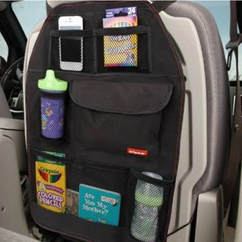 Loozykit Car Seat Storage Bag Car Covers Back Organizer Auto Multi-Pocket Trash Net Hanging Storage Bags Multi-Pocket Container image