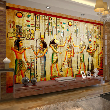 Mural Egyptian figures large mural bedroom living room TV wall bar ktv vintage wall 3D wallpaper backdrop