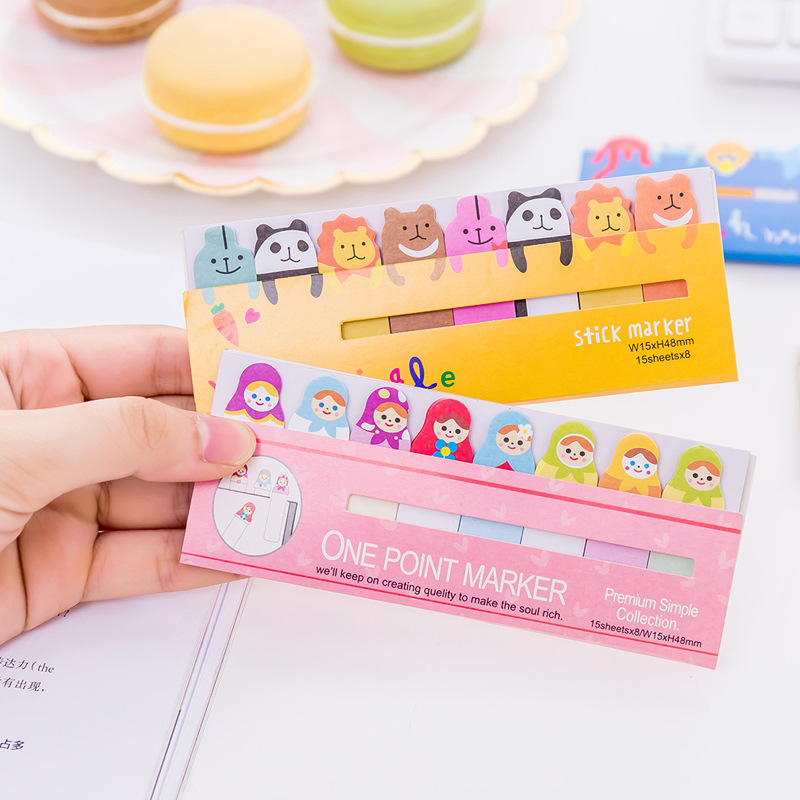 Notebooks & Writing Pads Cute Animal Bookmark Notebooks Writing Memo Pad Office School Supplies Scrapbook Stickers Kids Stationery Note Page Flags Gift Easy To Lubricate
