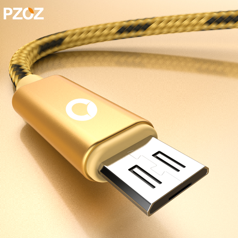Pzoz micro usb cable fast charging mobile phone usb data for lenovo samsung s6 s7 edge charger huawei 50cm 2a cabel microusb 2.4