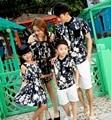 Free Shipping New Summer sandbeach Family outfits ,Women girls flower long Dress, Man boys sets clothes