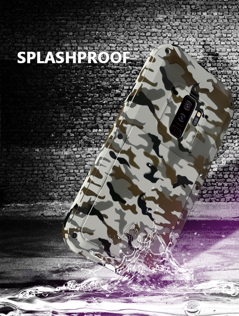 LOVE MEI Camouflage Metal Case For Samsung Galaxy S9 S9 Plus Aluminum Armor Cover For Samsung