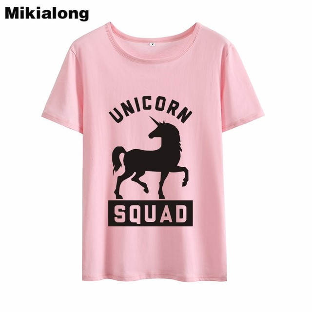 ef7b22caf Mrs win UNICORN SQUAD T Shirt Women Pure Cotton Hipster Summer Tops Women  Tshirt Short Sleeve Basic O-neck Camisas Mujer 2018
