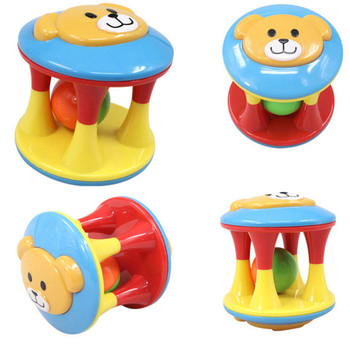 2 PCS/Set Lovely Funny Baby Rattles Plastic Music Novelty Hand Shake Bell Ring Early Learning Educational Toys Rattles toys Baby 1