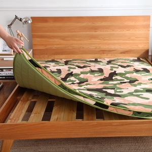 Image 5 - 6 cm épaisseur flanelle velours camouflage matelas tatami hôtel tatami tapis matelas literie Textile à la maison