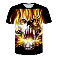 Ghost Rider Comic Book Cover Anime Sword Art Online t shirt Fashion Summer Short Sleeve T-shirt Rock Hip Hop Skateboard Tops 5XL
