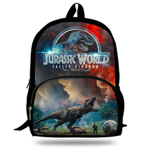 16-inch Animal Printing Backpack Jurassic World Fallen Kingdom Bags School